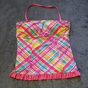 Hula honey pink bathing suit top